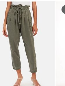Free People High Waist Trousers in Army 0 - NWT